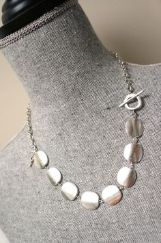 Silver Flat Coin Necklace Made in Canada by LinksLocks on Etsy, $25.00