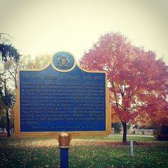 The plaque for Premier Gordon D. Conant in Lakeview Park.