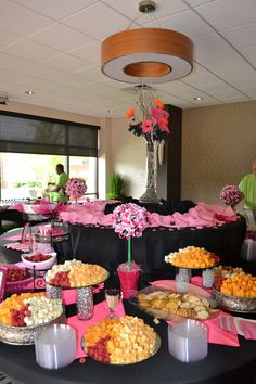 A tablescape at our 2013 Holiday In Pink - a breast cancer awareness event.