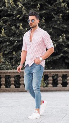 41 trendy summer men fashion ideas for you to try , Mens Fashion Style, Summer Outfits Men, Stylish Mens Outfits, Summer Men, Men's Casual Outfits, Mens Dress Outfits, Mode Outfits, Fashion Outfits, Fashion Trends, Fashion Ideas