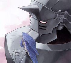 Al and bird Hiromu Arakawa, English Reference, Alphonse Elric, Roy Mustang, Edward Elric, Fullmetal Alchemist Brotherhood, Anime Shows, Trance, Master Chief
