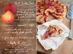 The Best Peach Tart you'll ever have: want