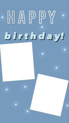 Birthday Captions Instagram, Birthday Post Instagram, Frases Instagram, Instagram Story Ideas, Happy Birthday Template, Happy Birthday Posters, Instagram Editing Apps, Instagram Frame Template, Birthday Posts