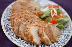 -    Pork Tenderloin with a Mustard Seed Crust -    www.inthekitchenwithjenny.com/