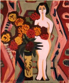 Ernst Ludwig Kirchner, Still Life with Sculpture, 1924