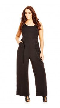 1d4c6d2937ff Black Mod Wide Leg Plus Size Jumpsuit Plus Size Jumpsuit