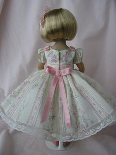 This series is made with beautiful fabrics and laces and trims. I do my best to sew with precision and accuracy, and always with an eye for a very good custom fit for Little Darling dolls. In addition to sewing for them, I am a collector of these beautiful dolls myself. | eBay!