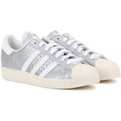 dbefd2b86e7 Adidas Originals Superstar 80s Embossed Leather Sneakers (£84) ❤ liked on  Polyvore featuring shoes