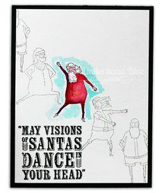 Understand Blue: Santa Like Nobody's Watching! Using Peerless Watercolor & @stampinup Visions of Santa