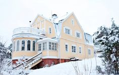 Mansard Roof, Roof Detail, Old Houses, Finland, My House, Beautiful Homes, Cottage, House Exteriors, Mansions