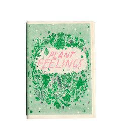 Plant Feelings Zine by ashleyronning on Etsy, $8.00 Drawings and thoughts about our feelings towards plants. Colour cover with photocopy interior pages on a random selection of green, purple and yellow paper. Featuring a risograph cover with green and fluro pink inks on 100% recycled envirocare stock. We also used a mix of pink and green staples! By Ashley Ronning and Sarah McNeil, 2014. A6, 37 pages. Limited edition of 200, hand numbered.