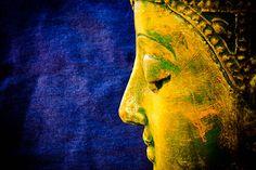 Blue on Yellow Buddha