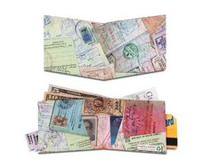 Passport Mighty Wallet: Made from Tyvek, it's water resistant and you can't tear it even though it looks like paper. Mighty Wallet, Passport Stamps, Geek Stuff, Artsy, Wallets, Cool Stuff, Stylish, Gifts, Bags