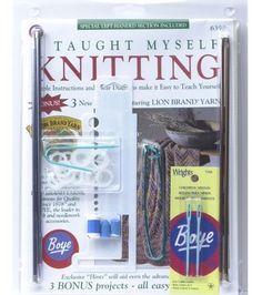 Beginners Knitting Kit-Book, Needles