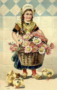 Old Easter Post Card — Easter greetings (414×650)