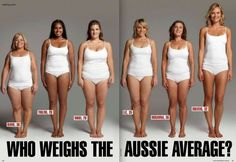 This is awesome!  Answer? They ALL weigh 154 pounds.  There IS not 'right' body shape you need to conform to.  You can work out like a crazy person, take pills and whatever.  Some women WILL lose weight.  Some won't.  However you body changes during your life?  Embrace it in the moment...just love yourself.  Stop trying to please OTHER people.