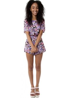 (FLOWER POWER) NEON ROSE FLORAL PLAYSUIT #HAKKAFASHION SHOP THIS PLAYSUIT HERE- http://www.hakkafashion.com/jumpsuits-playsuits/271-neon-rose-floral-playsuit.html?search_query=FLORAL&results=48