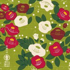 #kichihan #pattern #design #illust #japan #GraphicDesign #original #flower #drawing #JapaneseStyle #Camellia #吉斑 #きちはん #グラフィック #文様 #花文様 #花 #文様制作 #和柄 #図案 #絵柄 #パターン #デザイン #手描き #オリジナル文様 #花柄 #椿 #つばき #椿文様