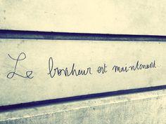 Le #bonheur est maintenant. #amour