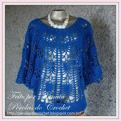Blusão em crochê Modelo Jade - Linha Camila Fashion, fio duplo e agulha 3,75mm (+ gráfico)