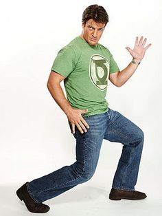 Nathan Fillion and I have the same Green Lantern shirt. Green Lantern Shirt, Nathan Fillon, I Love Him, My Love, Geek Chic, Make Me Smile, Hot Guys, Hot Men, Actors & Actresses