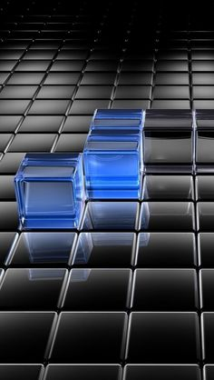 Black and Blue Translucent Cubes #iPhone #5s #Wallpaper | http://www.ilikewallpaper.net/iphone-5-wallpaper/, click it to get more choices about it .