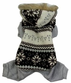 Evergreens Four Legs Snow Design Pet Dogs Winter Sweater Coat (Brown, M) - http://www.thepuppy.org/evergreens-four-legs-snow-design-pet-dogs-winter-sweater-coat-brown-m/