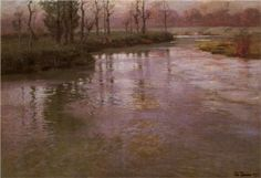 On a French River - Frits Thaulow