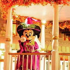 Boo to you and you and you and you! The Halloween costumes on all the characters are so fun. Minnie Mouse has the best one though