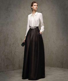 Resultado de imagen de faldas largas elegantes para bodas