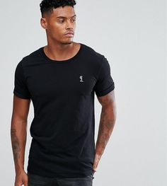 Religion T-Shirt with Rolled Sleeves - Black