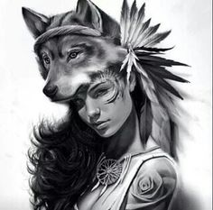 Tattoo Finka wolf