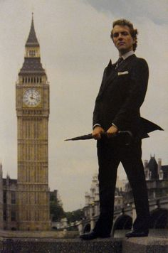 Rik Mayall in London.