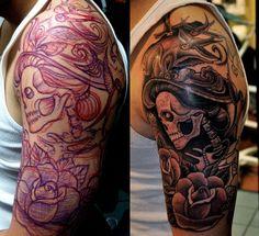 Corey Miller tattoo... Free handed... No stencil