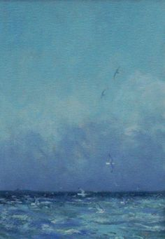 Sea and Gulls  -  Robert Jones  British b.1943-