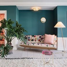 10 Of Our Favorite Colorful Rooms On Instagram #refinery29  http://www.refinery29.com/instagram-colorful-rooms#slide-8  Pumice + Forest GreenSubtle shades, together at The Apartment in Copenhagen....