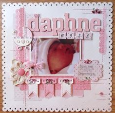 Growing Up in His Love Our Girl Scrapbook Page Premade 12x12 Scrapbook Layout called H Brand New She Blooms Through Prayer and Love