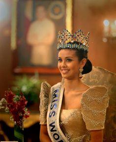 Miss World 2013 in modern Filipiniana gown