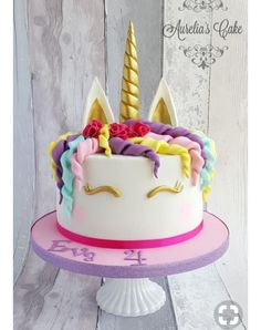 Unicorn cake :) by Aurelia's Cake (fiesta party foods birthday cakes Bolo Red Velvet, Cold Cake, Unicorn Cupcakes, Salty Cake, Fiesta Party, Savoury Cake, Unicorn Birthday, Cake Designs, Amazing Cakes