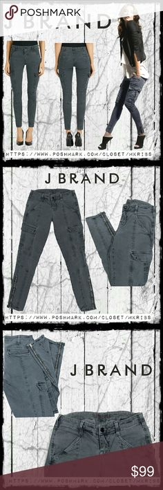 J Brand Houlihan skinny cargo jeans Highly sought after and sold out.... J Brand Houlihan skinny cargo Houlihan stretch jean with ankle zips. Color is Vintage Navy. Excellent condition.  ABSOLUTELY NO TRADES PLEASE! REASONABLE OFFERS WELCOME THROUGH OFFER FEATURE ONLY PLEASE! J Brand Jeans