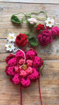 Pollevie Www.crochetshawl.com Www.pollevie.etsy.com Patterns available Flower Crochet, Knit Crochet, Yarn Crafts, Diy And Crafts, Crochet Shawls And Wraps, My Flower, Crochet Clothes, Crochet Projects, Free Pattern