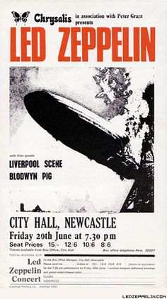 Led Zeppelin at The Newcastle City Hall, Newcastle, England - June 20, 1969