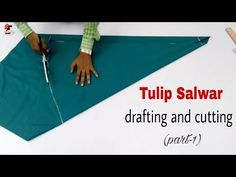 Tulip Salwar drafting & cutting In this video I will teach you drafting and cutting of tuli Dress Tutorials, Sewing Tutorials, Salwar Pattern, Kurti Patterns, Tulip Pants, Salwar Pants, Stitching Dresses, Kaftan, Youtuber