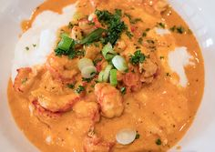 Crawfish Anh Luu: crawfish in a Cajun cream sauce over grits at #Tapalaya in NE #Portland #MagoGuidePortland