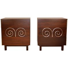 Pair of Edmond J. Spence Side Cabinets for Industrias Muebles ca.1954 Mexico | From a unique collection of antique and modern cabinets at https://www.1stdibs.com/furniture/storage-case-pieces/cabinets/
