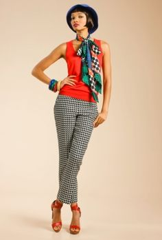 Trina Turk Fez Pant. Available at Monkee's of Morrocroft, (704) 442-7337.
