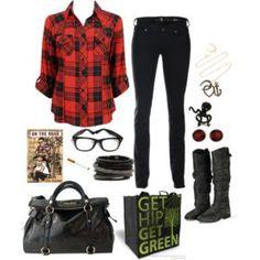 Get hip get green love plaid shirt
