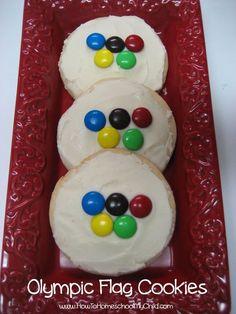 Olympic flag cookies | HowToHomeschoolMy...