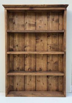Glass Shelves Spice Racks - Rustic Spice and Herb Rack Dark Oak Finish 4 Shelves Wall Cabinet.