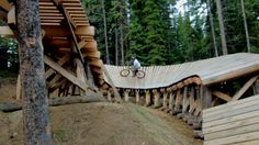 mtb wood features | ... Trail at Trestle Bike Park - Mountain Biking Videos - Vital MTB